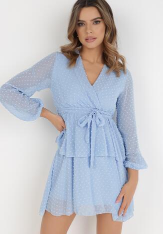 Jasnoniebieska Sukienka Sharpblaze