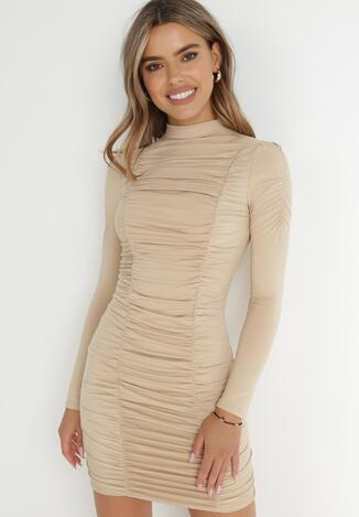 Jasnobeżowa Sukienka Jeniedenah