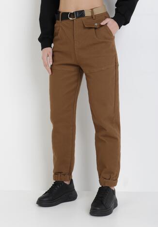 Ciemnobrązowe Spodnie Joggery Ryrvielle