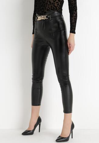 Czarne Spodnie Skinny Xenriane