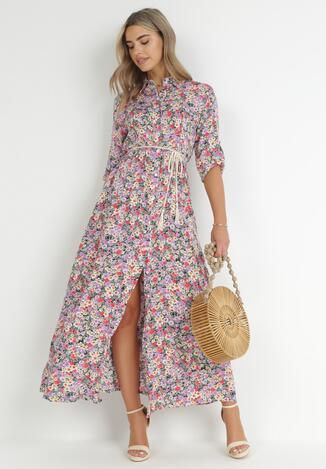 Fioletowa Sukienka Daeithe