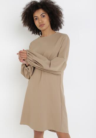 Jasnobeżowa Sukienka Nyxalphia