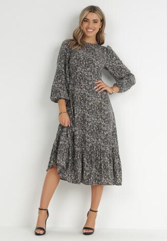 Szara Sukienka Asteogonia