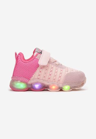 Różowo-Fuksjowe Buty Sportowe LED Lithistae