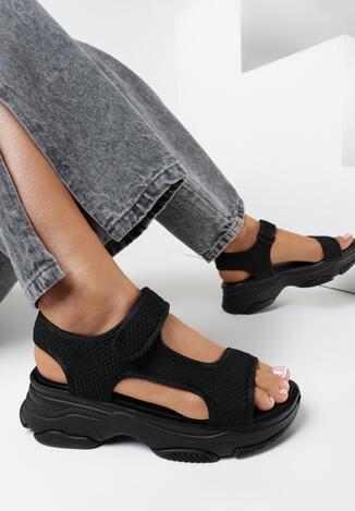 Czarne Sandały Olithia