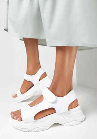 Białe Sandały Olithia