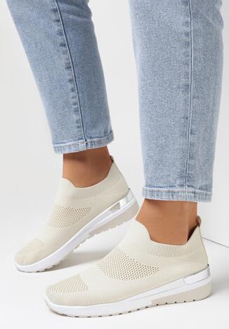 Beżowe Buty Sportowe Phoiphaeia