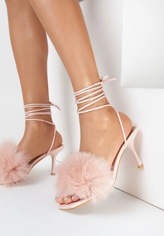 Różowe Sandały Evithephine