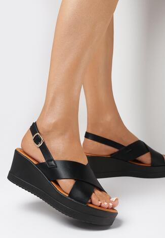 Czarne Sandały Aphice