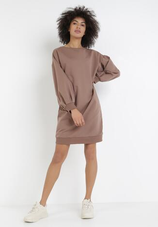 Ciemnobeżowa Sukienka Iasyse