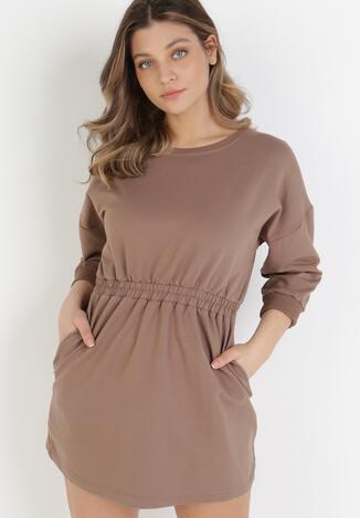 Brązowa Sukienka Apheasi