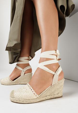 Beżowe Sandały Salethe