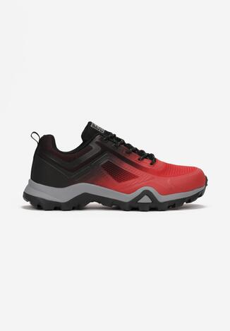 Czerwono-Czarne Buty Sportowe Rhethais