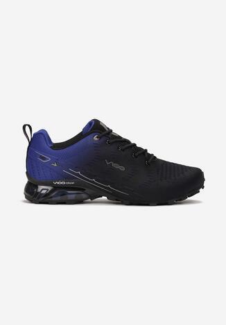 Czarno-Niebieskie Buty Sportowe Rhaeniphise
