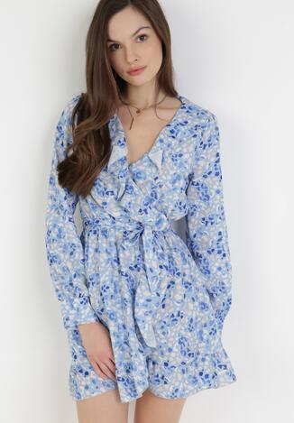 Niebieska Sukienka Undineh
