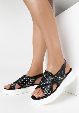 Czarne Sandały Neamemea
