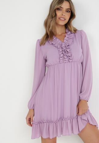 Liliowa Sukienka Petomenis