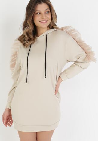 Beżowa Sukienka Thalaris