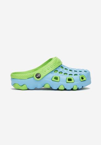 Niebiesko-Zielone Klapki Nerisine