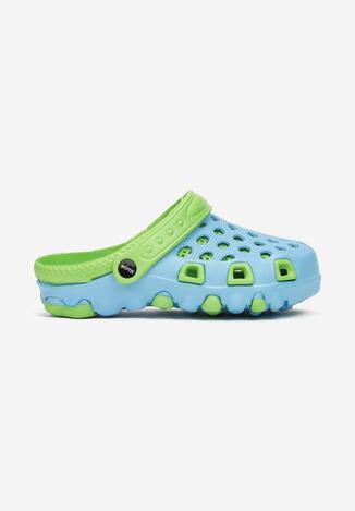 Niebiesko-Zielone Klapki Dodina