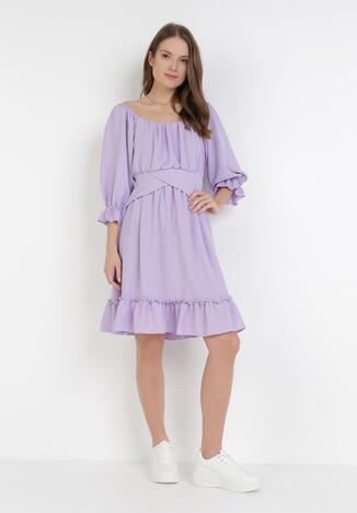Liliowa Sukienka Metiosesis