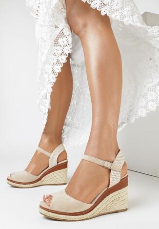 Beżowe Sandały Bormeni