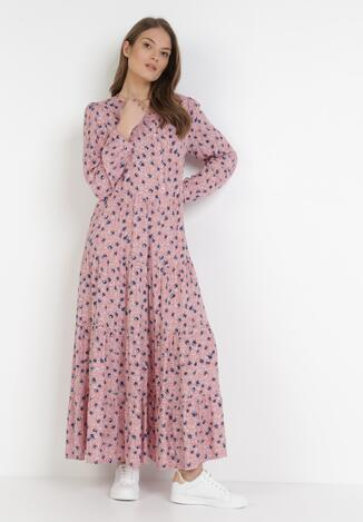 Różowa Sukienka Praxophi