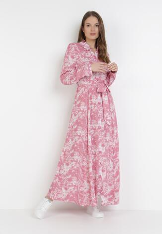 Różowa Sukienka Taphithise