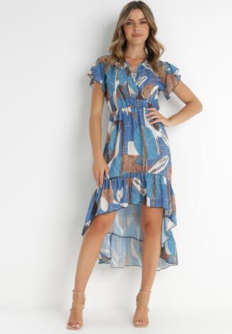 Niebieska Sukienka Chenewai