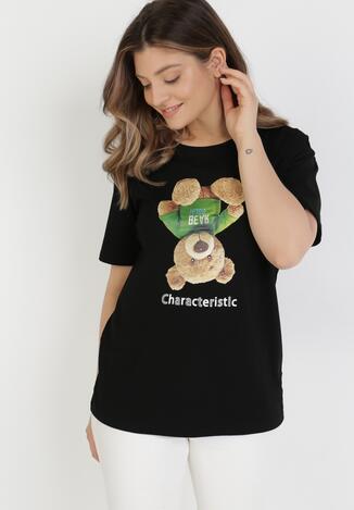 Czarny T-shirt Astria