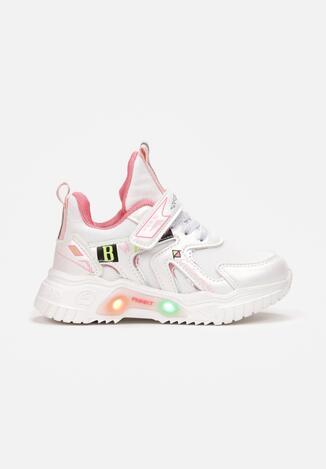 Białe Buty Sportowe LED Nephanise