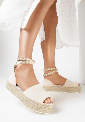 Beżowe Sandały Kaphyxio