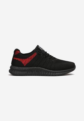 Czarno-Czerwone Buty Sportowe Sileis