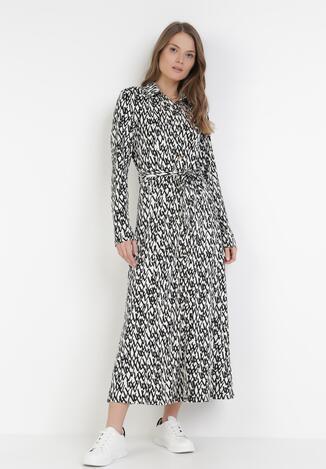 Biało-Czarna Sukienka Selestethis
