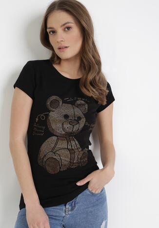 Czarny T-shirt Synishia