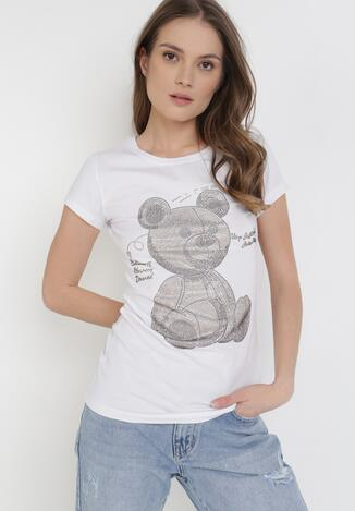 Biały T-shirt Synishia