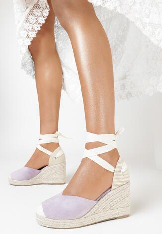 Liliowe Sandały Theanypso