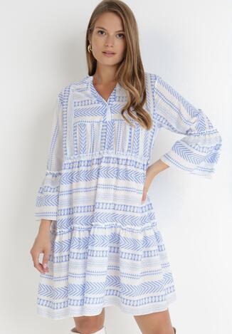 Niebieska Sukienka Mephiphi