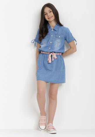 Niebieska Sukienka Theanophi