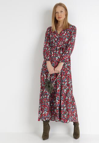 Czarno-Czerwona Sukienka Zelelis