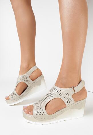 Beżowe Sandały Pherithe