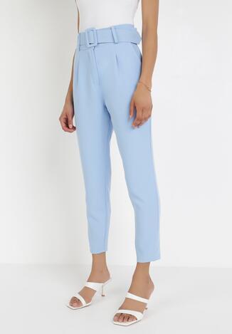 Jasnoniebieskie Spodnie Cygaretki Selestiphelia
