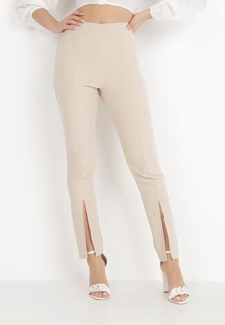 Jasnobeżowe Spodnie Cygaretki Phalalphia