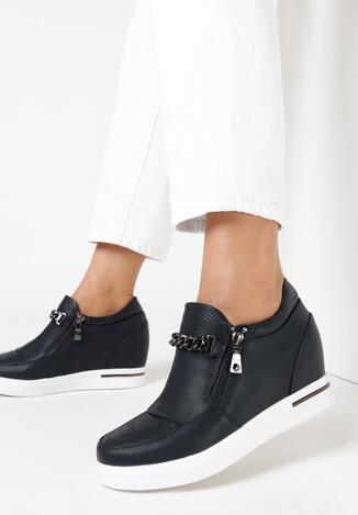 Granatowe Sneakersy Aethishis