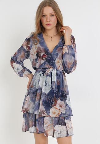 Granatowa Sukienka Venmaer