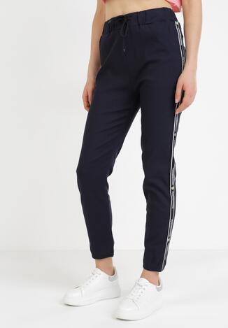Granatowe Spodnie Joggery Zrixynore