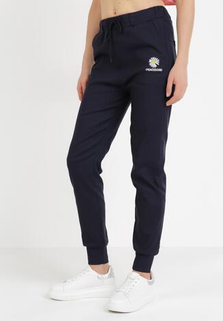 Granatowe Spodnie Joggery Nessnila