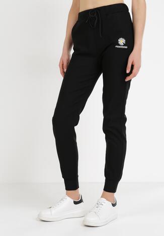 Czarne Spodnie Joggery Nessnila