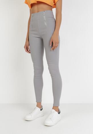 Szare Spodnie Skinny Kelnessa