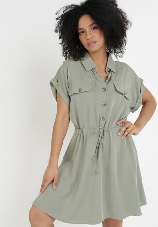Zielona Sukienka Priaphelous